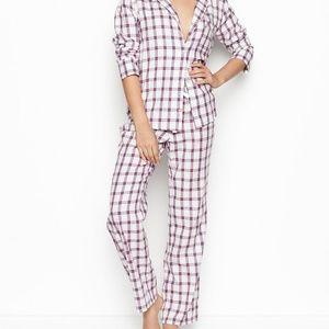 Victoria Secret Flannel PJ set size Small